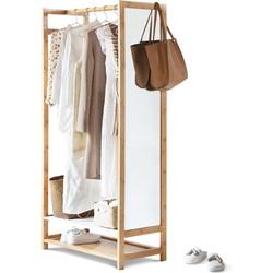 Bamboe kledingrek met spiegel