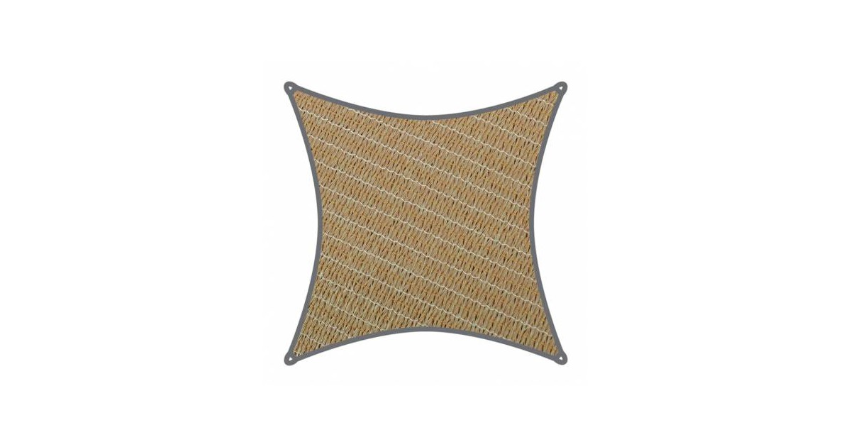Coolaroo schaduwdoek Vierkant 5,4x5,4m Zand