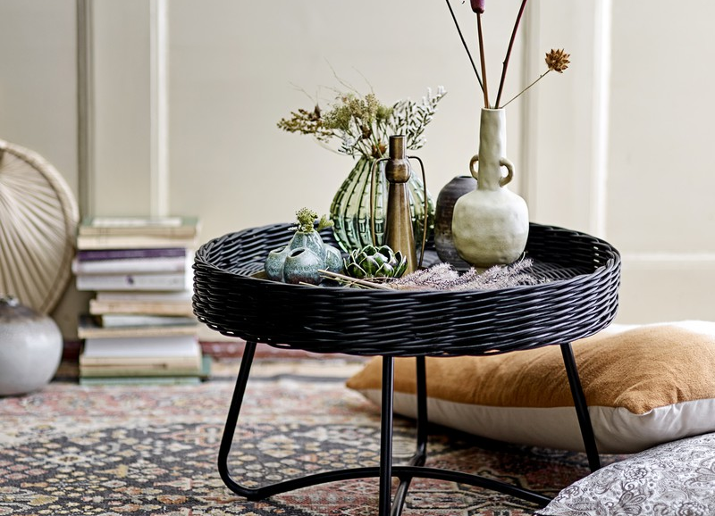 18x bijzettafels & salontafels van rotan of bamboe