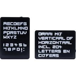 Dresz LED Lightbox Letterbord - A5 Formaat - 204 Letters, Nummers & Symbolen - 15,2 x, 21,7 x 6,7 cm - Zwart