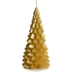 """Rustik lys Kaars """"Kerstboom"""" Goud - Groot - 20x10cm"""
