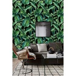 Zelfklevend behang Bananenblad groen-zwart 60x275cm