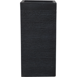 Bloempot zwart vierkant 33x33x70 cm DION