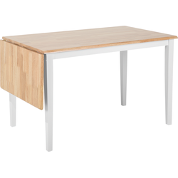 Eettafel hout wit 119-159 x 75 cm verlengbaar LOUISIANA