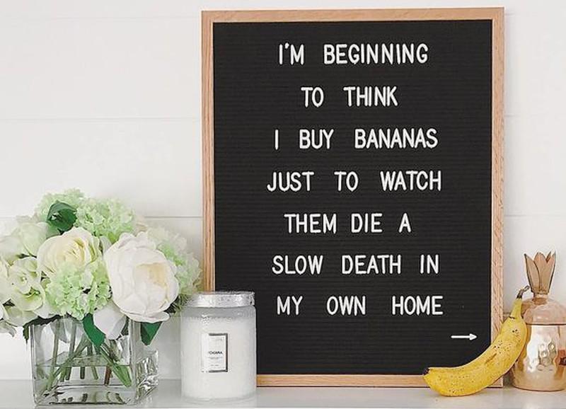Deze quotes voor op je letterbord zijn grappig én origineel!