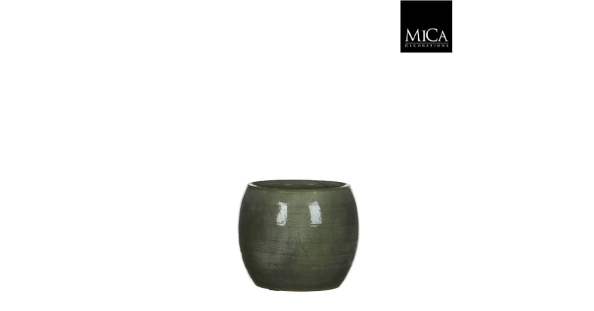 Lester pot rond groen h12xd14 cm
