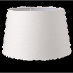 Lampenkap - Ø 25*16 cm - wit - textiel - rond - Clayre & Eef - 6LAK0433