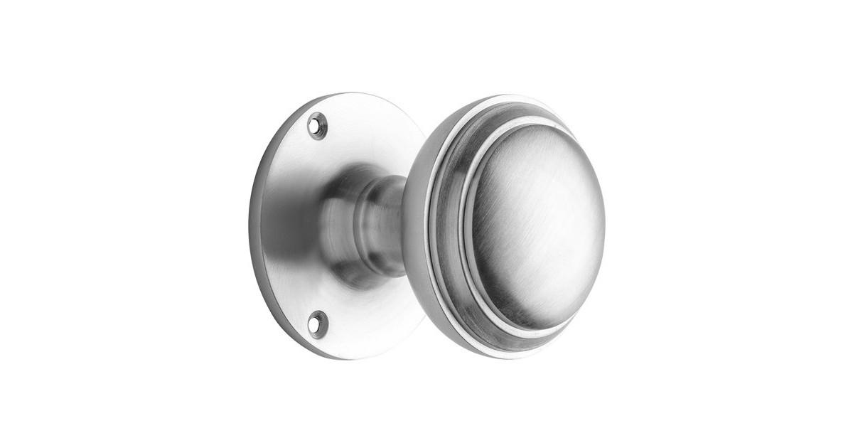 Voordeurknop 55mm - Rond mat nikkel