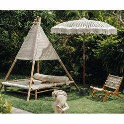 Bali parasol macrame 250 cm créme