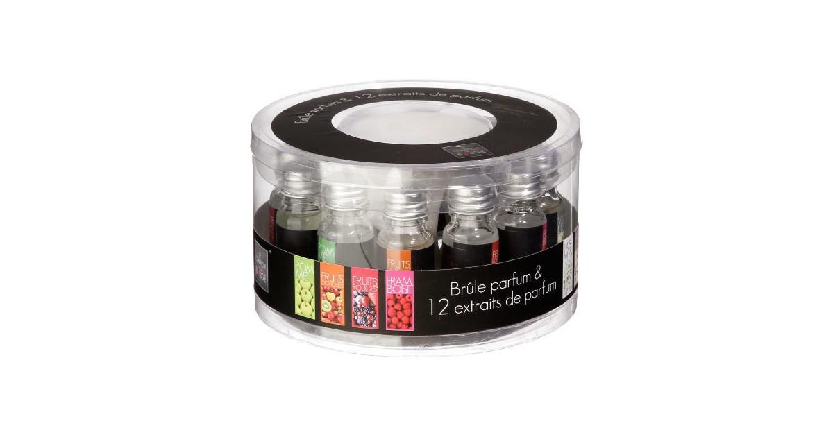 Decopatent ® Oliebrander SET Aromabrander voor Geurolie INCL 12x 10ML Oliën Jasmijn Vanille Roos Lavendel Olieverdamper SET online kopen