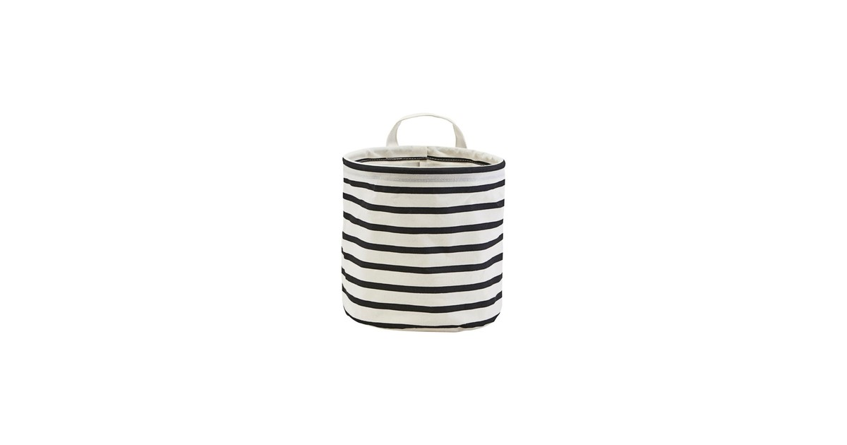 House Doctor Mand Stripes wit zwart 20cm