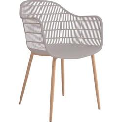 Tamy - Set van 2 stoelen - Taupe