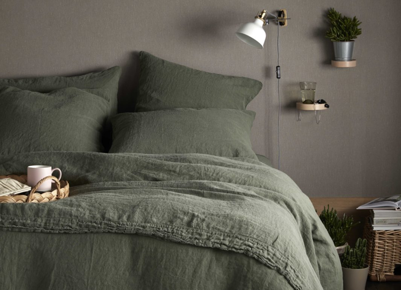 Vergeet wit beddengoed: groen is dé kleur voor op je bed