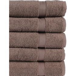 Nightlife - Sneldrogende handdoeken - 5-pak - Katoen - Bruin