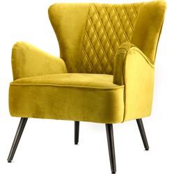 Daisy fauteuil geel - Eleonora
