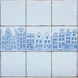 Tegeltableau - Tiny houses serie 2
