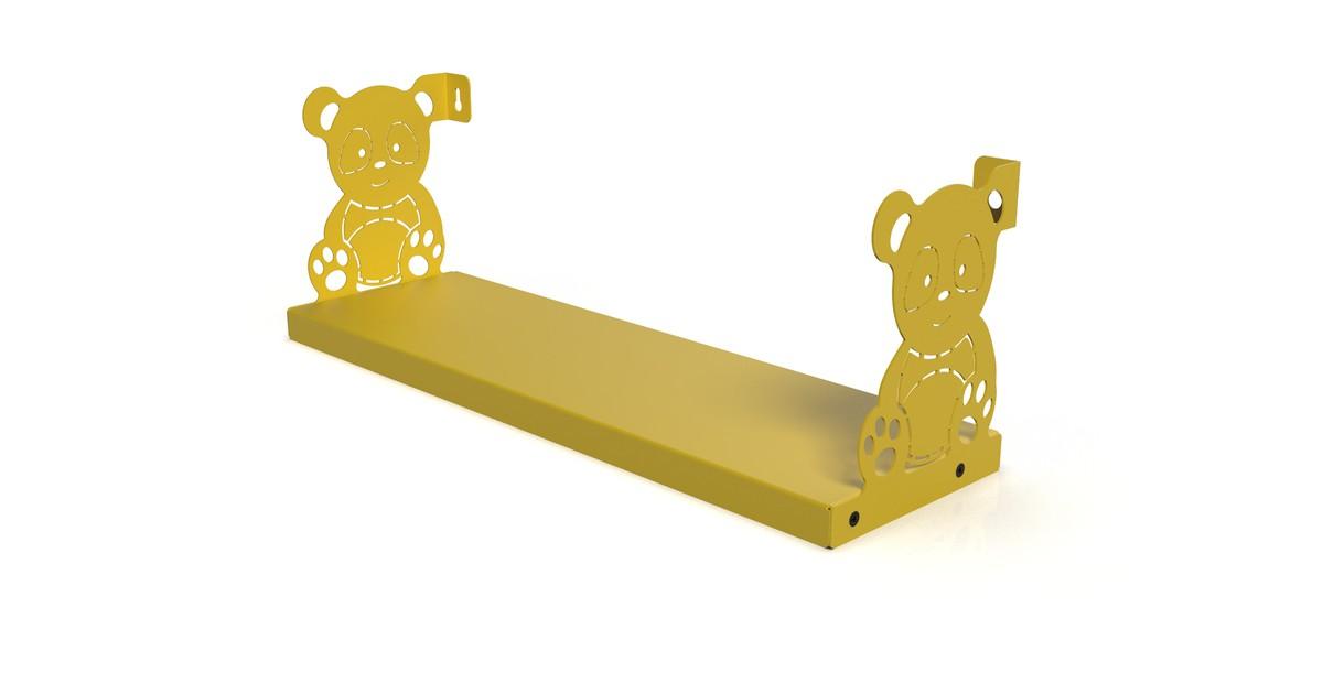 Gorillz Kids Panda- Boekenplank Boekenrek Kinderkamer - Geel