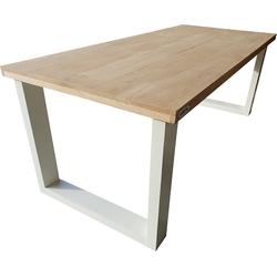 Wood4you - Eettafel New England Eikenhout 180Lx78Hx96D cm wit
