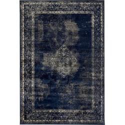 Vintage vloerkleed Blauw/Donkerblauw - infinity -185 x 275cm - (L)