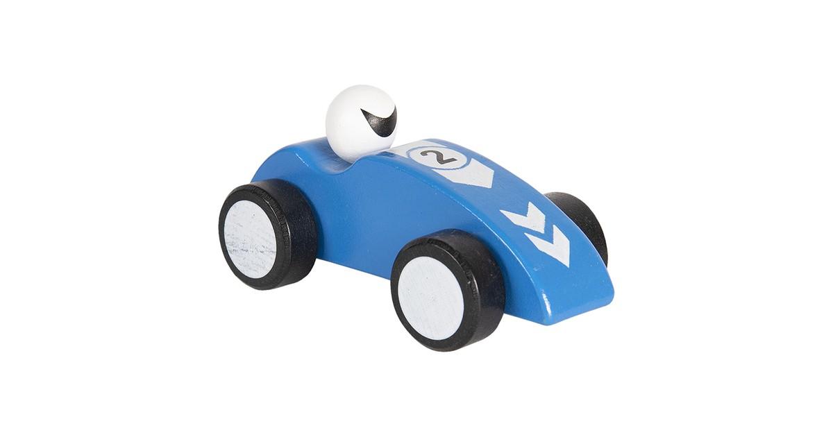 Clayre & Eef Decoratie auto 14 cm blauw 64421BL