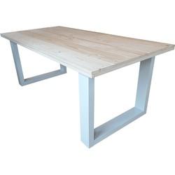 Wood4you - Eettafel New England blanco vuren Wit 220Lx78Hx90D cm