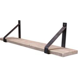 Stalen plankdrager - Set - Steigerhout Old-Look - 100cm