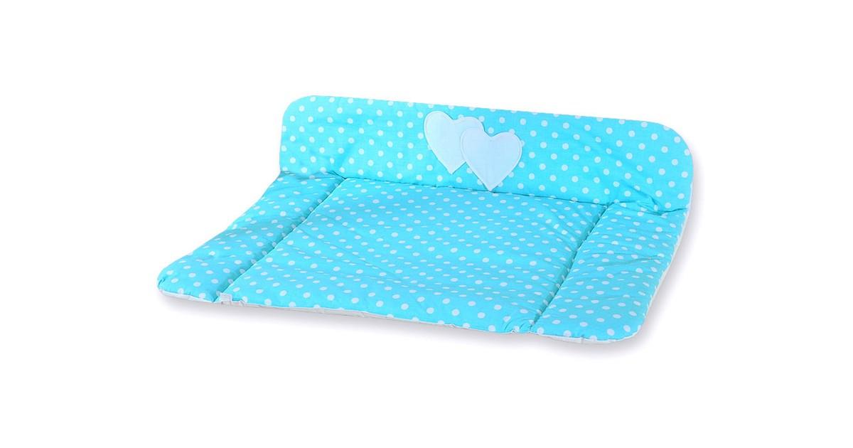 My Sweet Baby Aankleedkussen Two Hearts Stip/Aqua