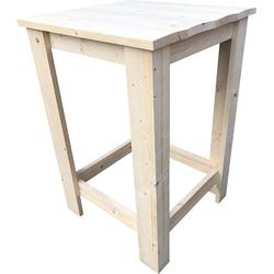 "Wood4you - Bartafel ""Finn"" bartafel -Nieuw steigerhout - 80Lx110Hx80D cm"
