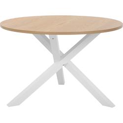 Eettafel lichtbruin/wit ø120 cm JACKSONVILLE