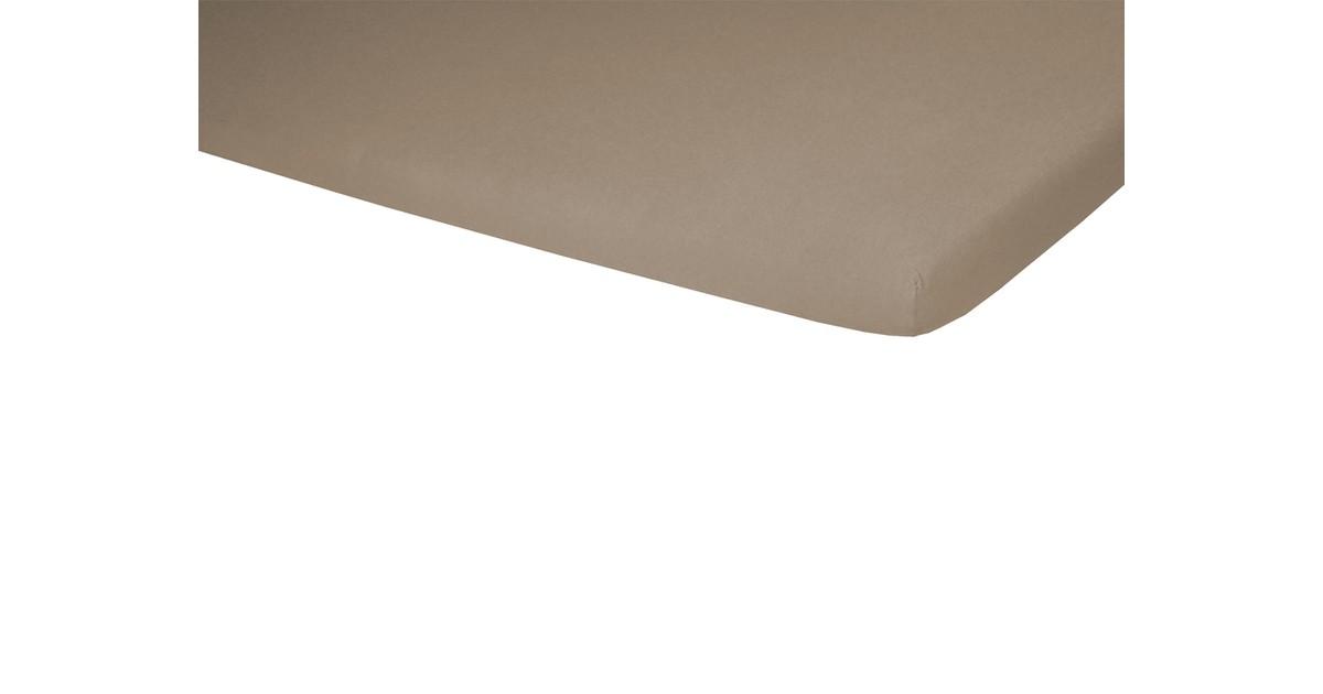 Polydaun split top hoeslaken Jersey taupe 180 x 200/220 cm