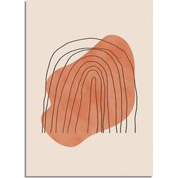 Regenboog Lijnen Poster - A2 poster (42x59,4cm)