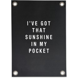 Tuinposter Letterbord Sunshine in my Pocket (70x100cm)