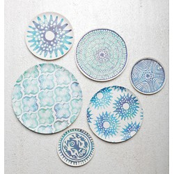 Plate Mandala Duo - Coloured