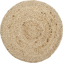 Nordal placemat rond jute lichtbruin