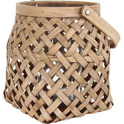 HK-living lantaarn bamboe klein 14,5x14,5x15cm