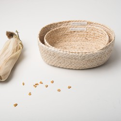 Baskets Corn - Set Of 2