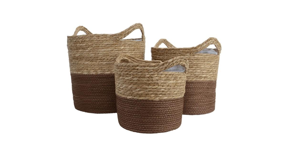 Basket grass d28h26.5cm brown