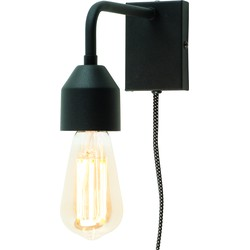 Madrid - Wandlamp - Zwart