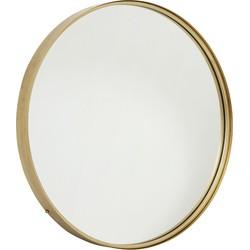 spiegel rond metaal goud ø 80