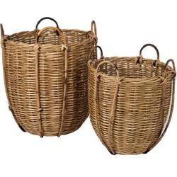 mand riet bamboe set 53 x 52 x 52