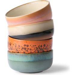 Hkliving ceramic jaren 70 dessert kommen set van 4