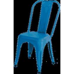 Industriële eetkamerstoel Blauw