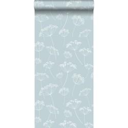 ESTAhome behang schermbloemen lichtblauw en wit