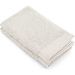 Gastendoek Soft Cotton Terry 30x50 cm set 2 kiezel