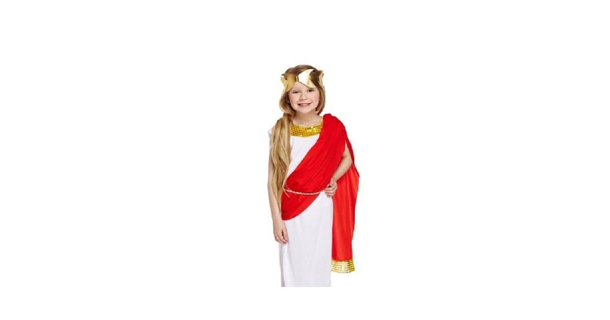3-Delig Romeins Godin kostuum voor kinderen - Carnavalskleding - Verkleedkleding - Romeins Feest Kos