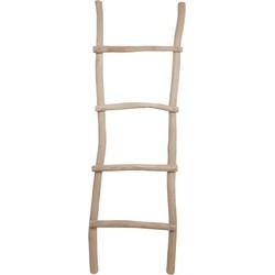 Decoratieve ladder - teak
