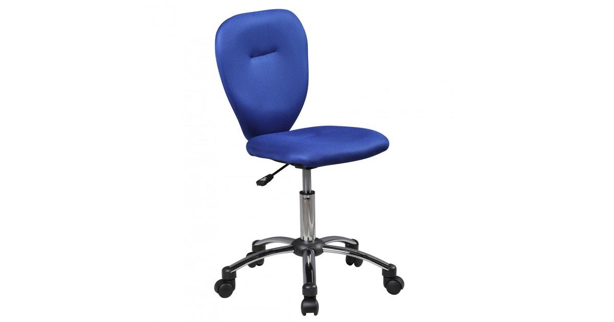 Nancy's Topeka Bureaustoel voor Kinderen - Draaistoel - Bureaustoel - Kinderstoel - Verstelbaar - Zwart/Groen/Blauw - Blauw