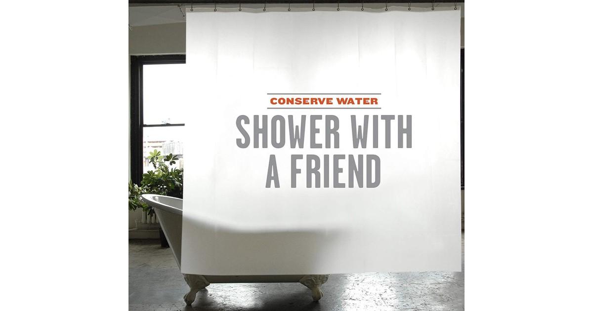 Men's Society Shower Curtain - PEVA - Conservation