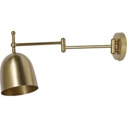 Nordal Wandlamp Gold Long arm 26x16x54