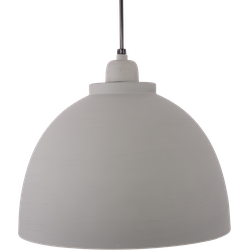 Hanglamp Capri 32 cm Mat Licht Grijs + Witte binnenkant